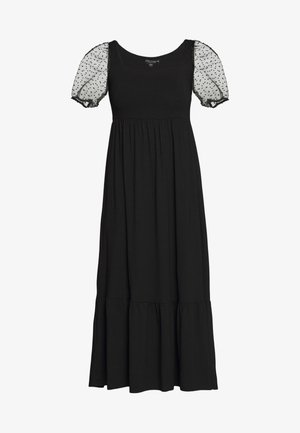 ORGANZA SLEEVE TIERED MIDAXI DRESS - Kjole - black