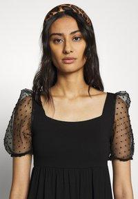 Dorothy Perkins - ORGANZA SLEEVE TIERED MIDAXI DRESS - Day dress - black - 3