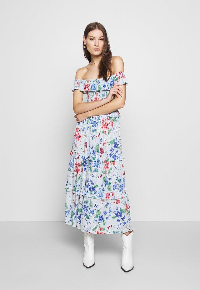 TIERED FRILL MIDAXI DRESS - Freizeitkleid - light grey