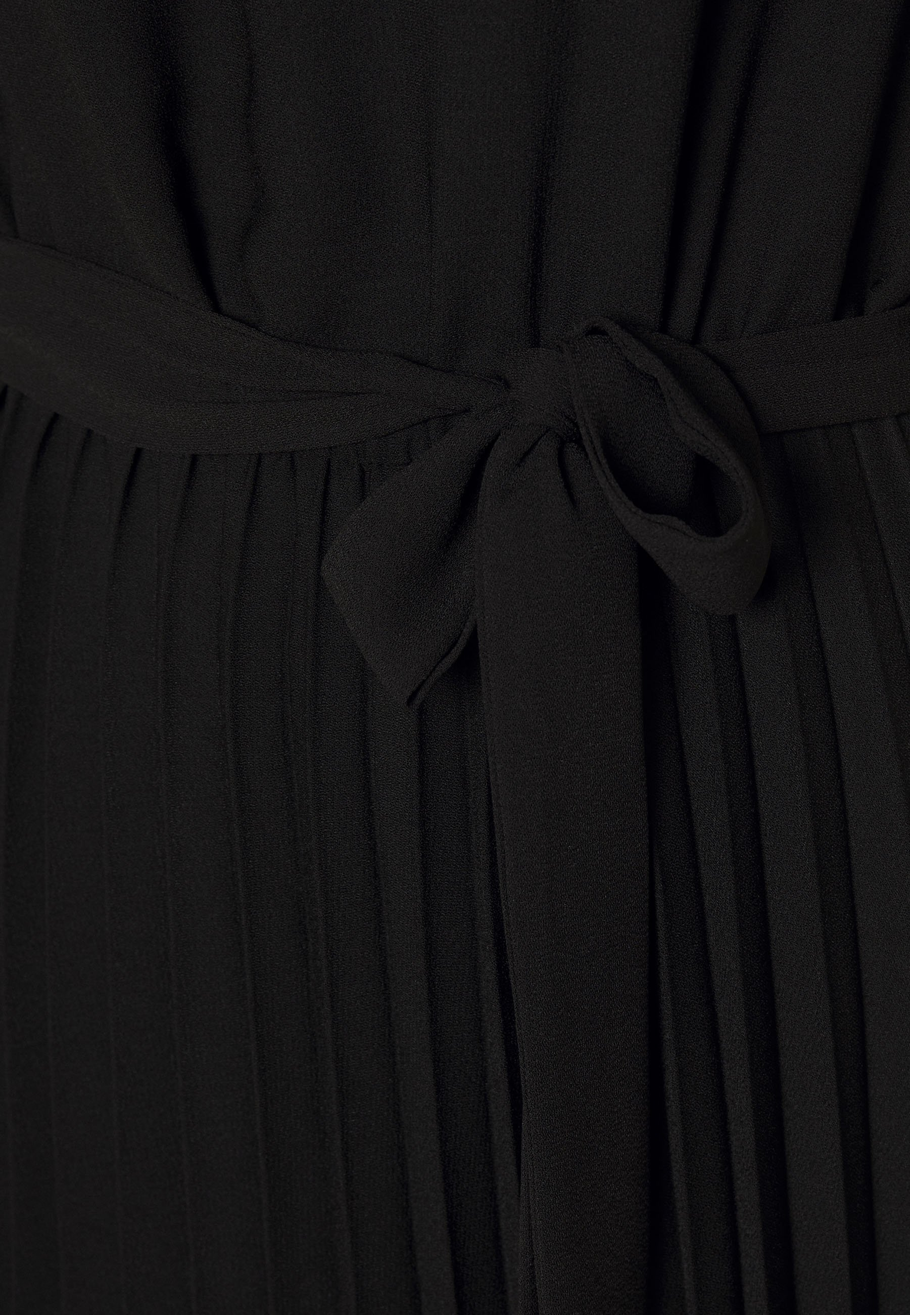 Dorothy Perkins Sleeve Keyhole Pleated Midi Dress - Vardagsklänning Black