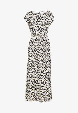 DAISY PRINT ROLL SLEEVE DRESS - Długa sukienka - blue