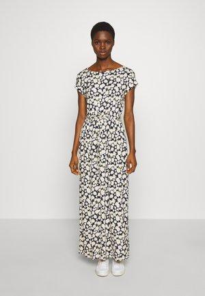 DAISY PRINT ROLL SLEEVE DRESS - Maxi dress - blue