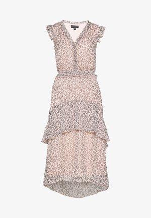 DITSY RUFFLE HEM MIDI DRESS - Korte jurk - blush