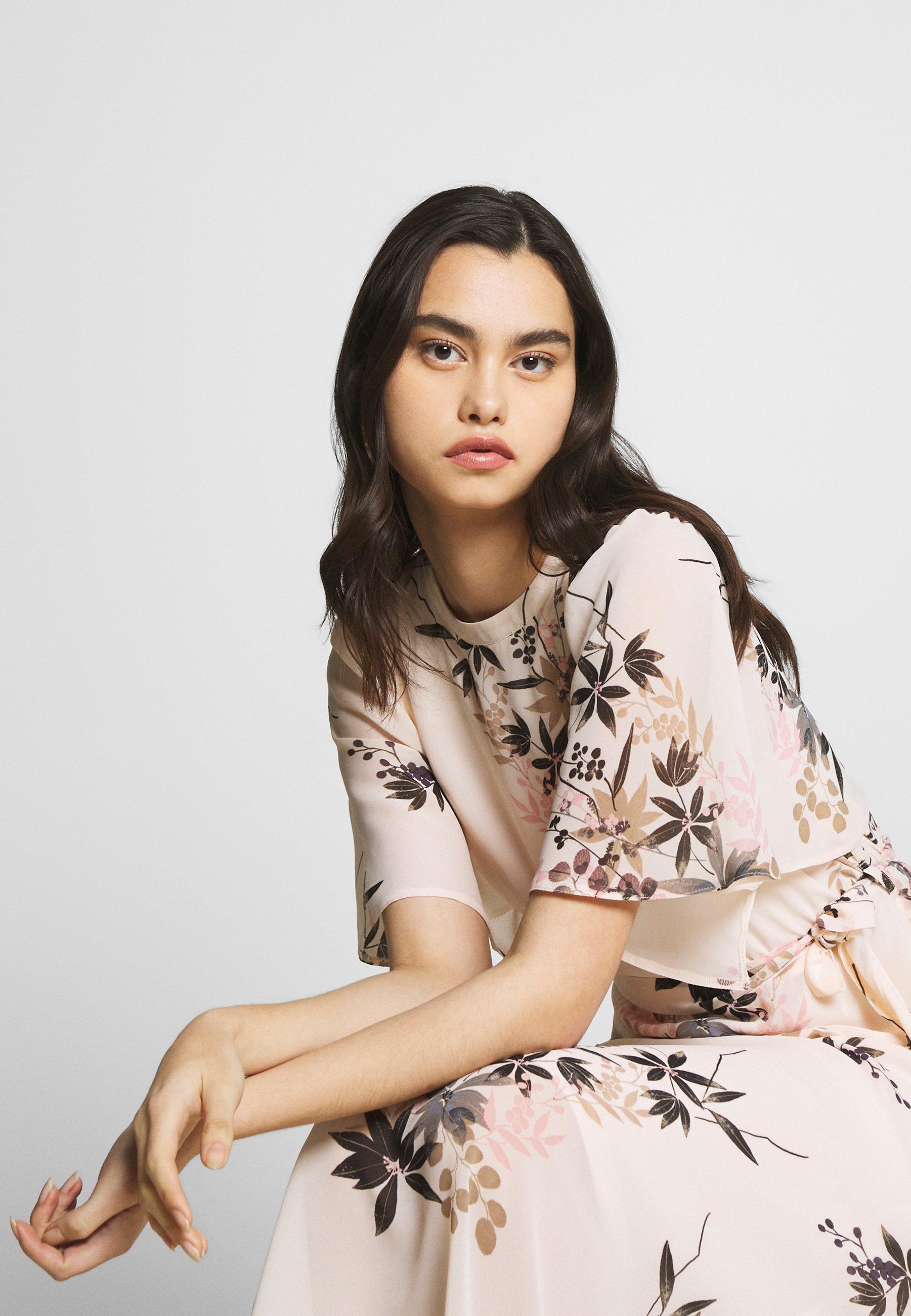 Dorothy Perkins Oriental Cape Sleeve Midi Dress - Vardagsklänning Blush