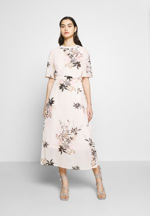 ORIENTAL CAPE SLEEVE MIDI DRESS - Day dress - blush