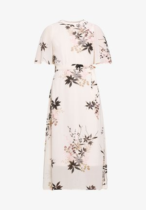 ORIENTAL CAPE SLEEVE MIDI DRESS - Day dress - blush