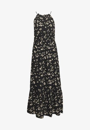 DAISY HALTER SMOCK MIDAXI DRESS - Maxi šaty - black