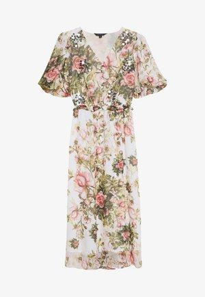 FLORAL PRINT SEQUIN MIDAXI DRESS - Vardagsklänning - blush