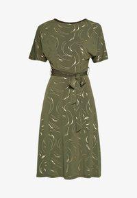 Dorothy Perkins - FOIL BATWING MIDI DRESS - Jerseyklänning - khaki - 4