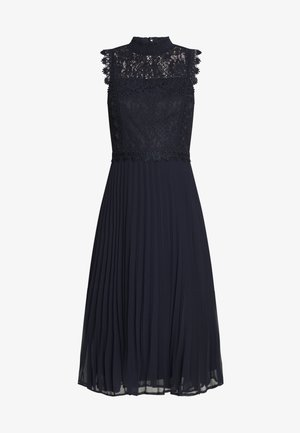 PLEATED MIDI DRESS - Vestito elegante - navy