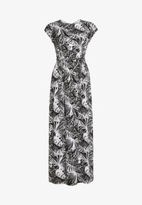 Dorothy Perkins - PALM PRINTROLL SLEEVE DRESS - Robe longue - black - 3