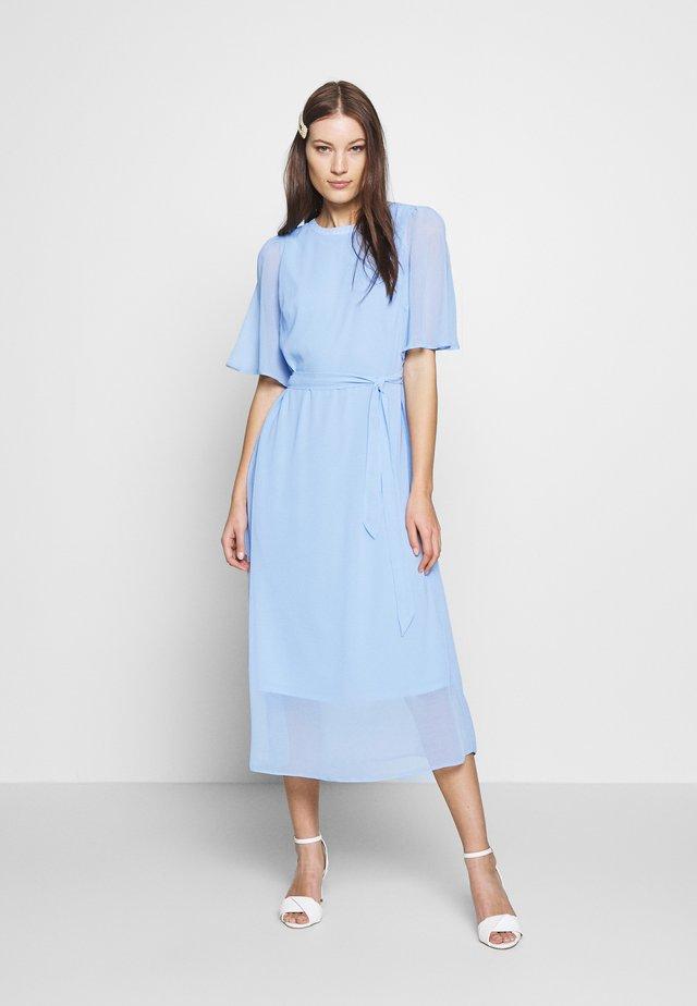 CAPE SLEEVE MIDI DRESS - Denní šaty - blue