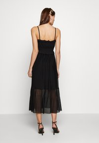 Dorothy Perkins - FLOCKED STRAPPY MIDI - Cocktail dress / Party dress - black - 2
