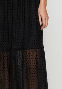 Dorothy Perkins - FLOCKED STRAPPY MIDI - Cocktail dress / Party dress - black - 3