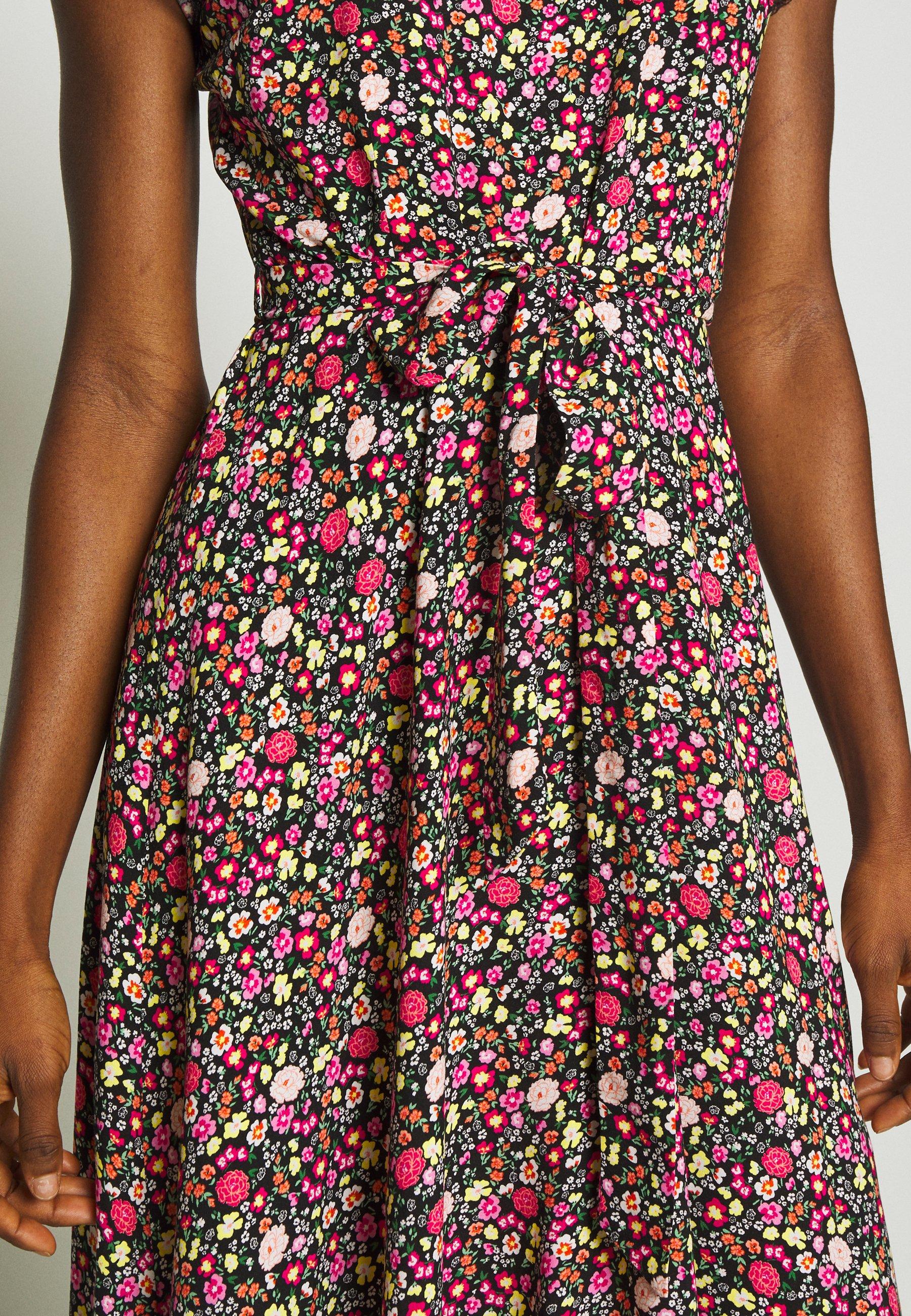 Dorothy Perkins BILLIE AND BLOSSOM TRIMP DITSY MIDI DRESS - Sukienka letnia - pink
