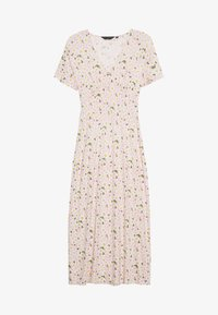 Dorothy Perkins - DAISY BUTTON THROUGH SLEEVE MIDI DRESS - Jerseykjole - pink - 0