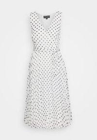 Dorothy Perkins - SPOT WRAP PLEATED MIDI DRESS - Sukienka letnia - ivory - 0