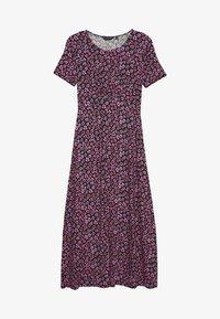 Dorothy Perkins - FLORAL EMPIRE SEAM MIDI DRESS - Jersey dress - black - 0