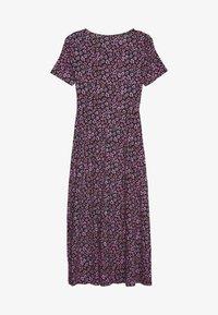 Dorothy Perkins - FLORAL EMPIRE SEAM MIDI DRESS - Jersey dress - black - 1