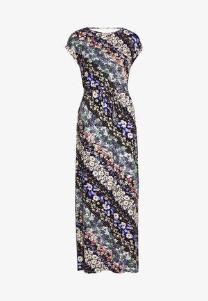 MULTI FLORAL ROLL SLEEVE DRESS - Robe longue - blue
