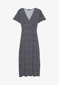 Dorothy Perkins - BUTTON THROUGH MIDI DRESS - Trikoomekko - navy - 0