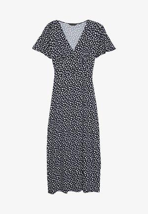 BUTTON THROUGH MIDI DRESS - Jersey dress - navy