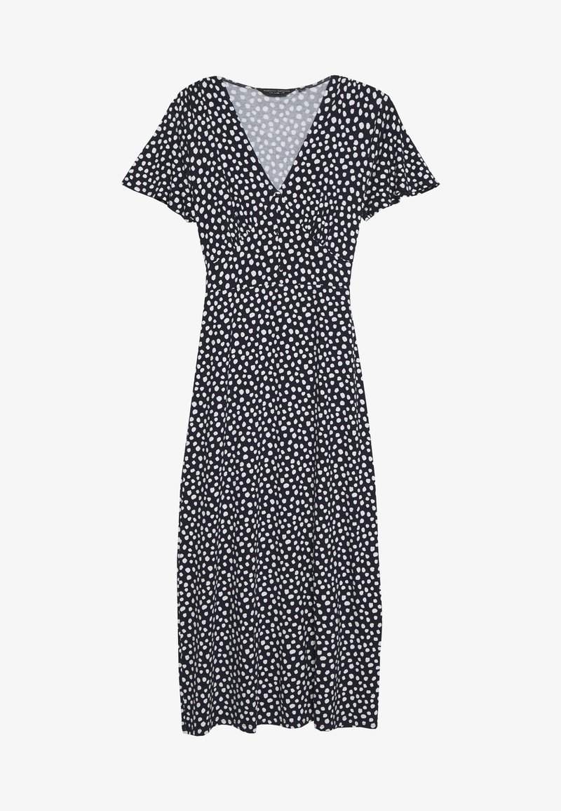 Dorothy Perkins - BUTTON THROUGH MIDI DRESS - Trikoomekko - navy