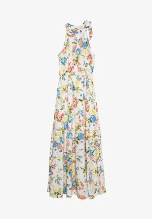 TIE NECK FLORAL DRESS - Maxikjoler - ivory