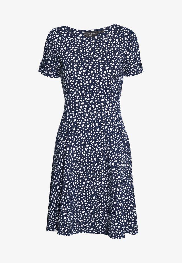SPOT PRINT DRESS - Vestito di maglina - navy