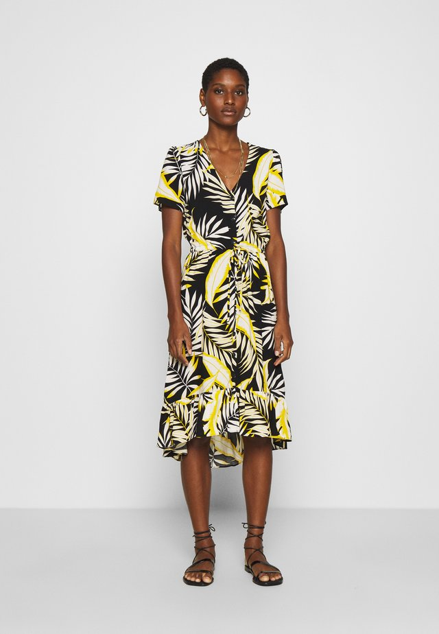 DRAWSTRING HIGH LOW DRESS - Sukienka letnia - yellow