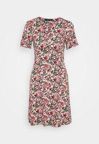 Dorothy Perkins - FLORAL CREAM BUTTON THROUGH DRESS - Jerseyjurk - cream - 0