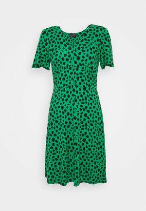 SPOT BUTTON THROUGH TEA DRESS - Jersey dress - multicolored