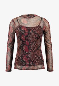 Dorothy Perkins - SNAKE HIGH NECK - T-shirt à manches longues - red - 4