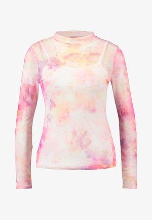 TIE DYE SCOOP - Pitkähihainen paita - pink