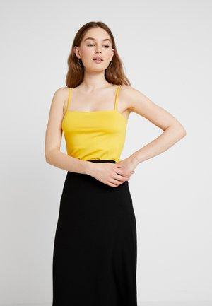 SQUARE NECK CAMI - Toppi - sunshine yellow