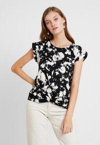 Dorothy Perkins - TIE DYE FRONT TEE - T-shirt med print - black - 0
