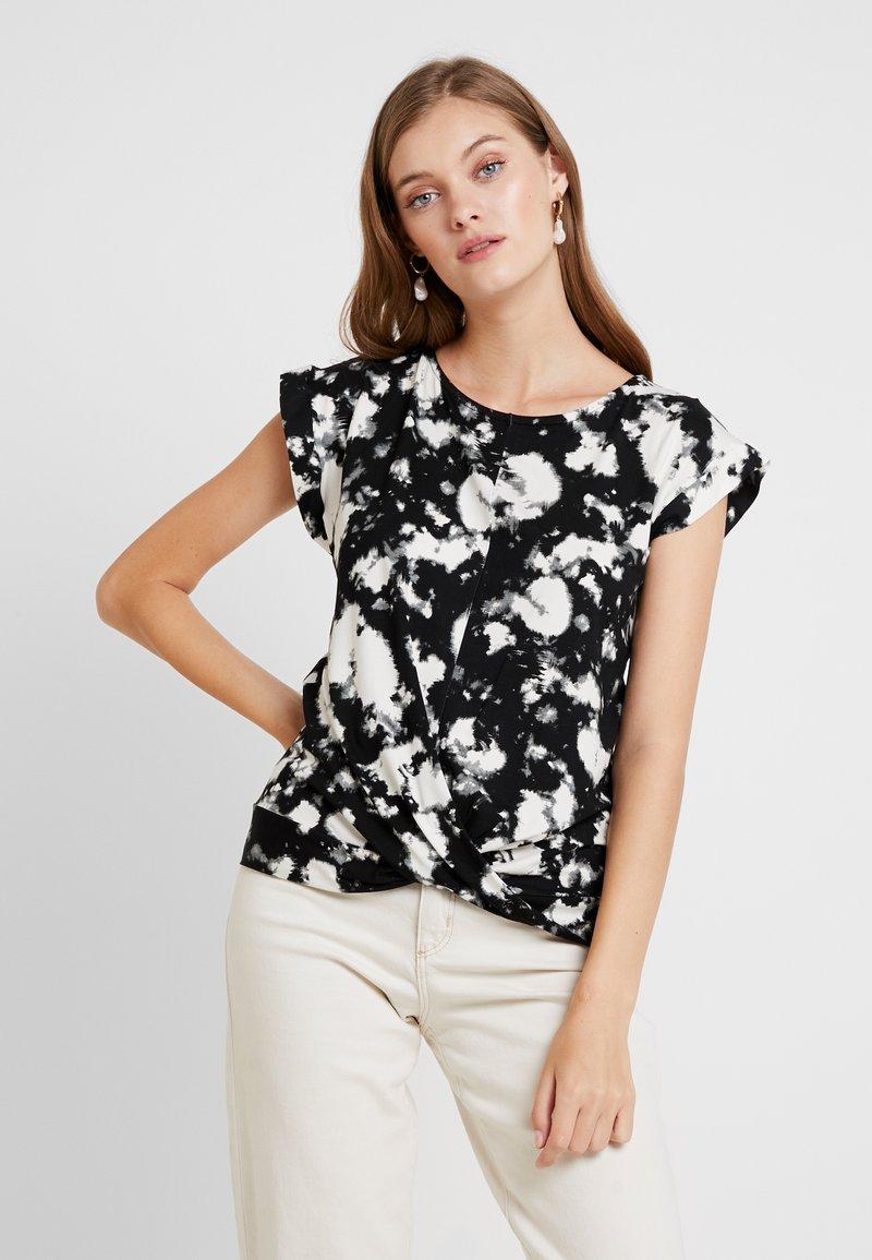 Dorothy Perkins - TIE DYE FRONT TEE - T-shirt med print - black
