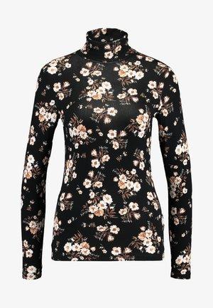 HIGH NECK - Long sleeved top - black/white