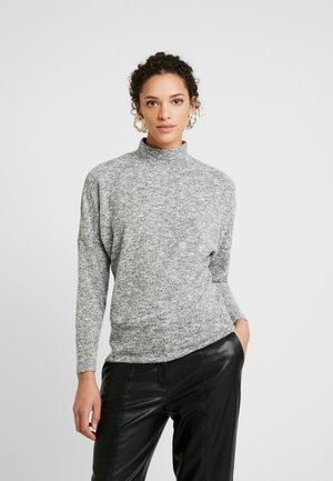 FUNNEL NECK BRUSHED BATWING - Strikkegenser - grey