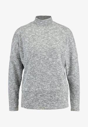 FUNNEL NECK BRUSHED BATWING - Sweter - grey