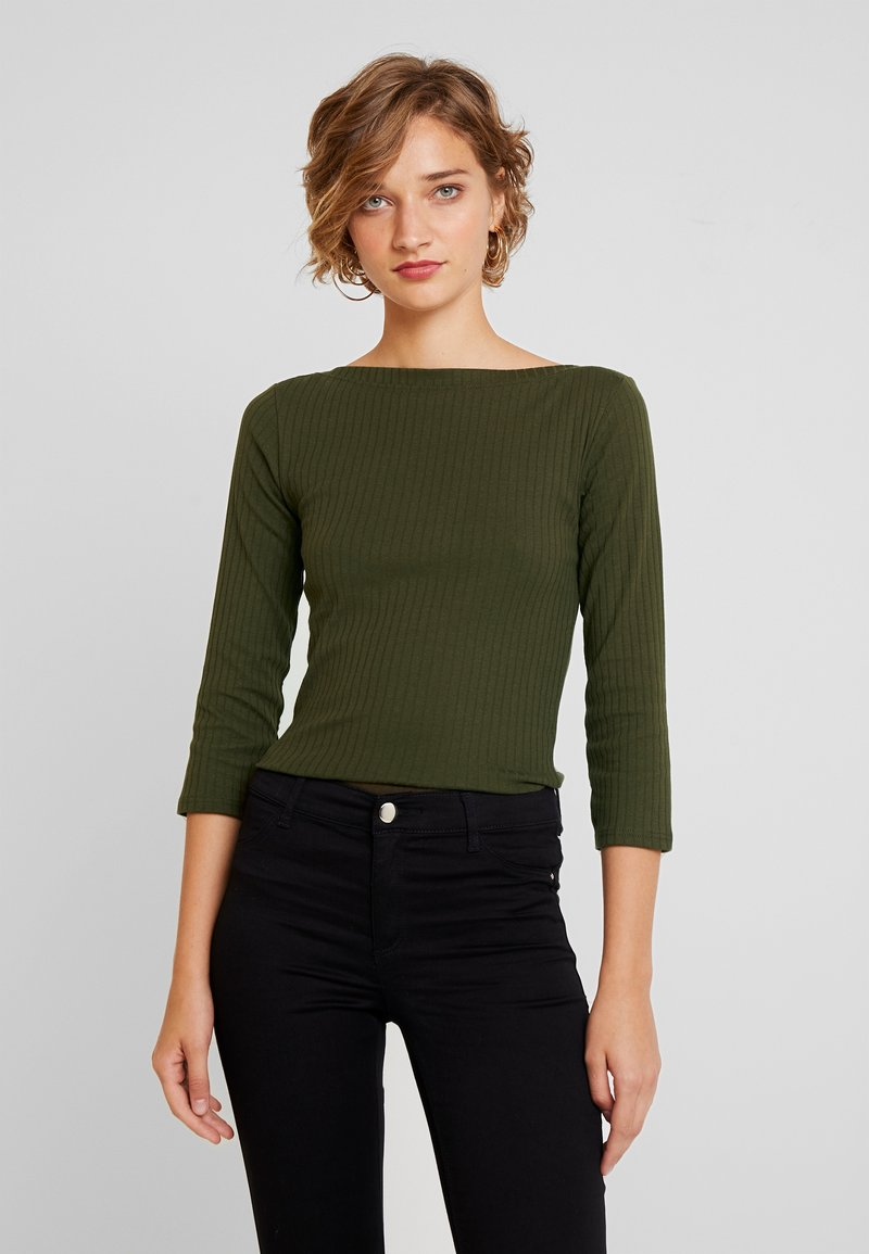 Dorothy Perkins - 3/4 BOAT NECK - Long sleeved top - khaki