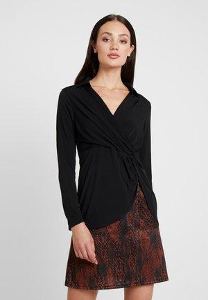 WRAP - Bluzka z długim rękawem - black