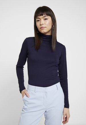 HIGH NECK PLAIN - Bluzka z długim rękawem - dark blue