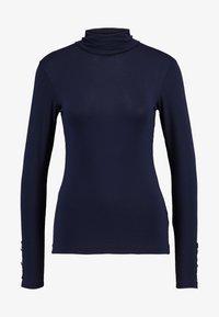 Dorothy Perkins - HIGH NECK PLAIN - Bluzka z długim rękawem - dark blue - 4