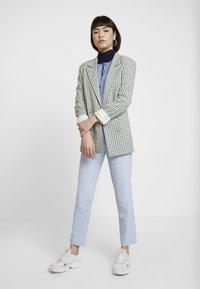 Dorothy Perkins - HIGH NECK PLAIN - Bluzka z długim rękawem - dark blue - 1