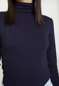 Dorothy Perkins - HIGH NECK PLAIN - Bluzka z długim rękawem - dark blue - 5