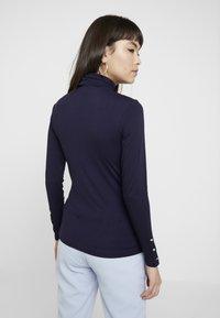 Dorothy Perkins - HIGH NECK PLAIN - Bluzka z długim rękawem - dark blue - 2