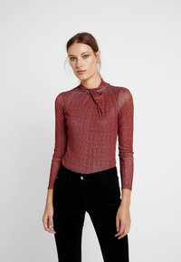 Dorothy Perkins - TWIST NECK FLORAL - Longsleeve - black - 2