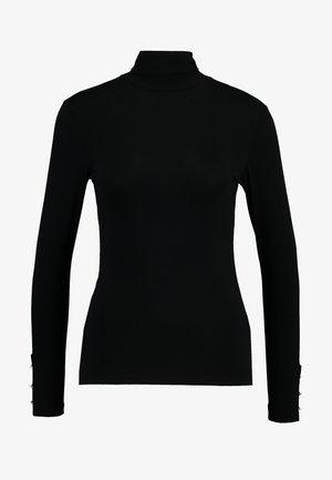 HIGH NECK - Long sleeved top - black
