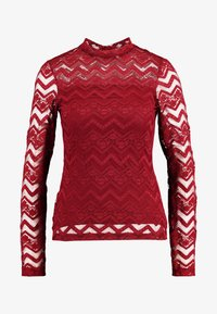 Dorothy Perkins - ZIG ZAG LONG SLEEVE - Blouse - red - 3